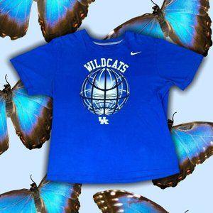 Kentucky Wildcats Nike T-Shirt Size XL Blue Cotton
